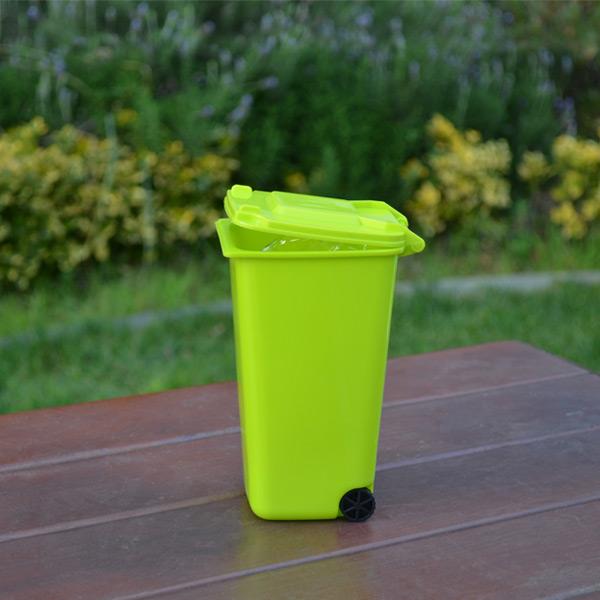 Mini Masaüstü Yeşil Çöp Kutusu