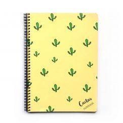 Cactus Yellow Çizgili Defter (A4)