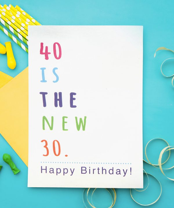 40 Is The New 30 Tebrik Kartı