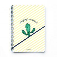 Cactus Line Çizgili Defter (A4)