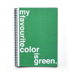 Green Çizgili Defter (A4)