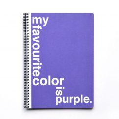 Purple Noktalı Defter (A4)