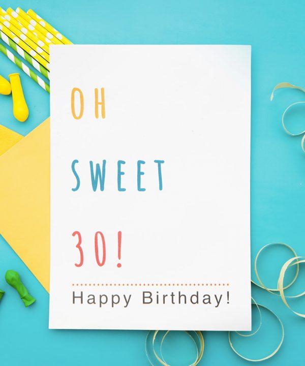 Oh Sweet 30 Tebrik Kartı
