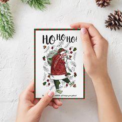 """""""Ho Ho Ho"""" Yılbaşı Tebrik Kartı"""
