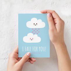 """I Fall For You"" Sevgililer Günü Kartı"