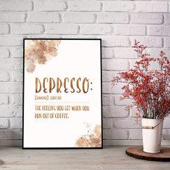 Depresso Tasarım Poster