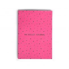 Ciltli Bullet Journal Pink Noktalı Defter (A5)