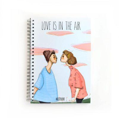 Love Is In The Air Noktalı Defter (A5)