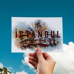 İstanbul Temalı Kartpostal