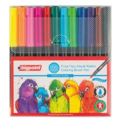 Fırça Uçlu Keçeli Kalem 12'li Set