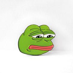 """Sad Frog"" Broş"