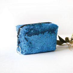 Mavi Pullu Bozuk Para Cüzdanı
