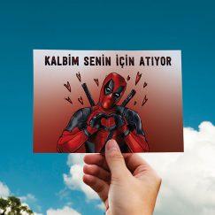 Deadpool Temalı Sevgililer Günü Kartı