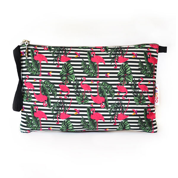 Pink Flamingos Clutch Çanta