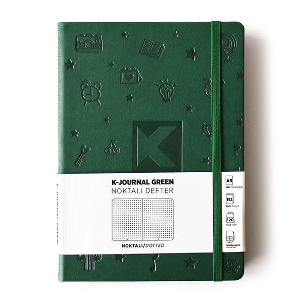 K-Journal Green Noktalı Defter