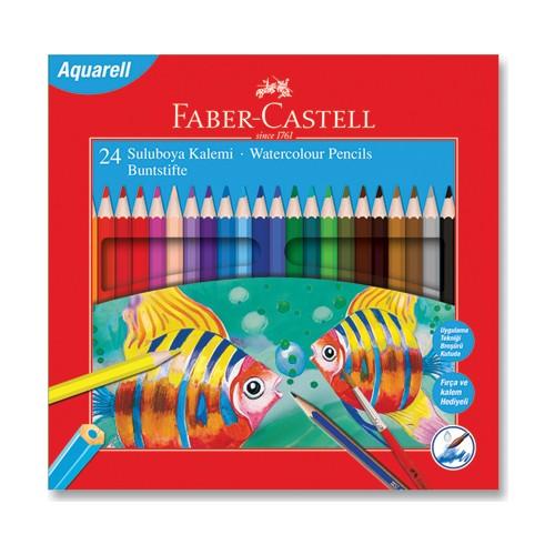 Faber Castell Aquarell 24 Renk Boya Kalemi
