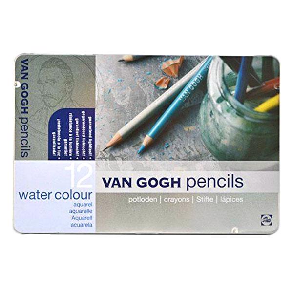 Talens Van Gogh 12 Renk Aquarel Boya Metal Kutu