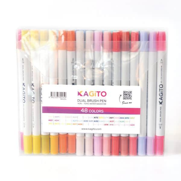 Çift Taraflı Brush Pen 48'li Set